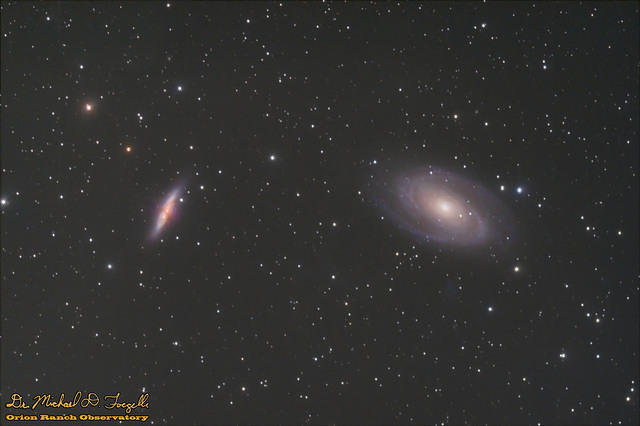 M81 & M82 - Bode's Nebula (Galaxy) and Cigar Galaxy - 110205