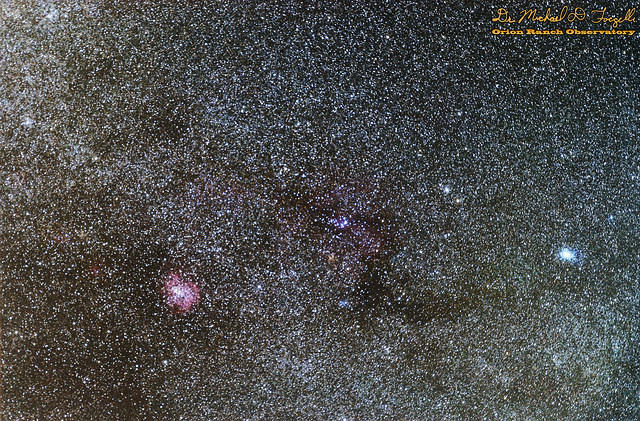 NGC 2264 & NGC 2237 Widefield - The Christmas Tree Cluster, Cone Nebula, & Rosette Nebula - 101212