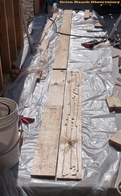 Laminating South End Beam