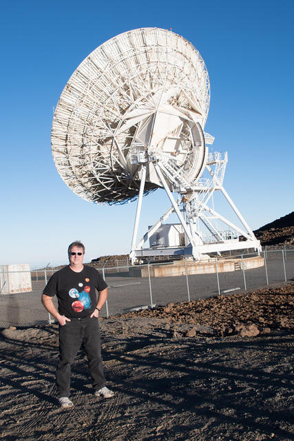 Michael and the VLBA Dish Antenna
