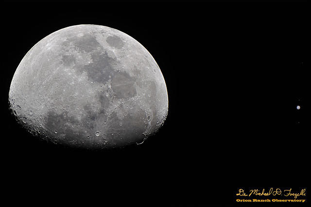 Moon and Jupiter Conjunction 2013-01-21