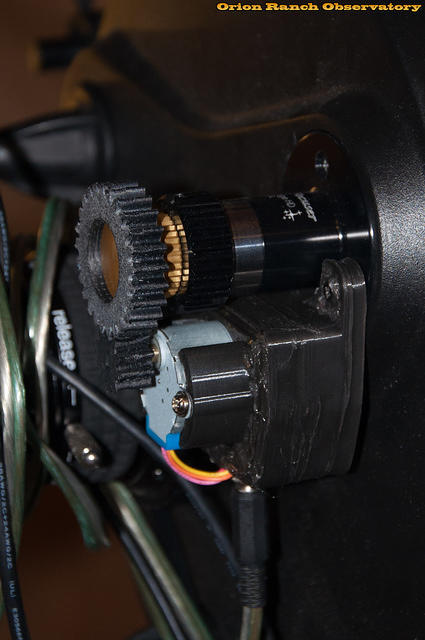 Installed Focus Motor Assembly