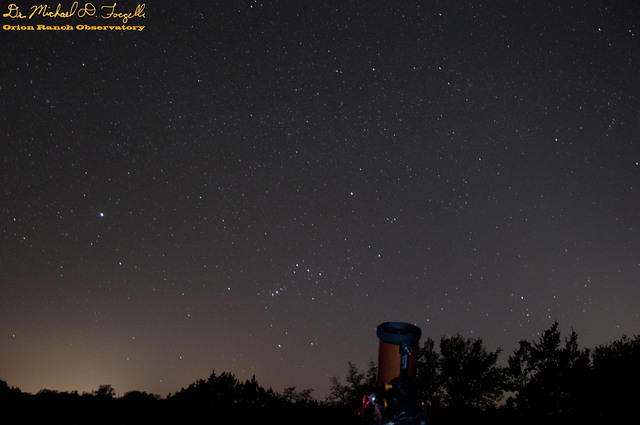 Orion Setting over Orion Ranch - 11-04-28