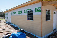 East Wall Siding Progress