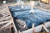 Day 2 - Vapor Barrier and start of Rebar