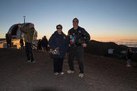 Michael and Machael in front of the Summit Sunset
