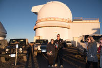 Michael and Machael in front of the U of H Telescope
