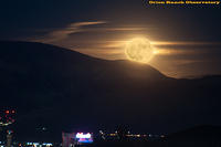 Super Moon Rising over Reno, NV