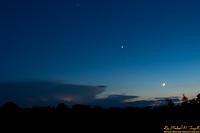 Moon, Venus, Sunset, and Thunderstorm - 130907